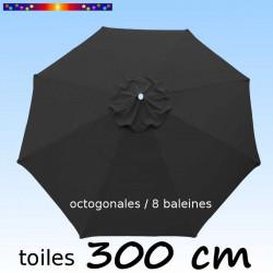 Toile de remplacement pour parasol 300/8 cm Gris Souris