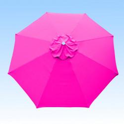 Toile de remplacement pour parasol 300 cm Rose Fushia