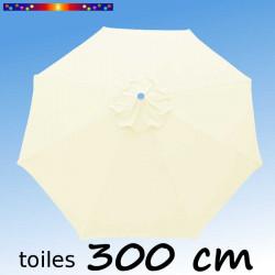 Toile de remplacement pour parasol 300 cm Ecru Crème
