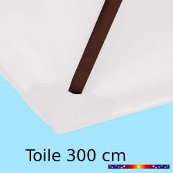 Toile de remplacement pour parasol 300 cm Blanc Jasmin : détail du fourreau