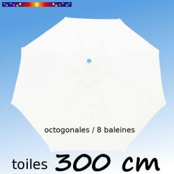 Toile de remplacement pour parasol 300 cm Blanc Jasmin