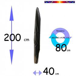 Housse pour parasol 200 cm x Largeur 40 cm : dimensions
