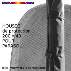 Housse pour parasol 200 cm x Largeur 40 cm : détail des sangles de fermeture de la housse