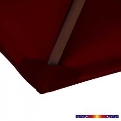 Toile de remplacement pour parasol 300 cm Rouge Bordeaux : coté bas de la baleine