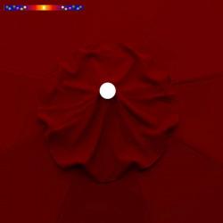 Toile de remplacement pour parasol 300 cm Rouge Bordeaux : détail de l'oeillet central
