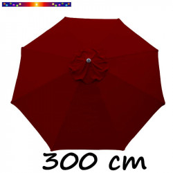 Toile de remplacement pour parasol 300 cm Rouge Bordeaux