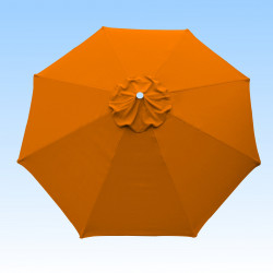 Toile de remplacement pour parasol 300 cm Orange