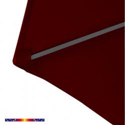 Toile de remplacement pour parasol HEXAGONAL 300 cm couleur Rouge Bordeaux : détail du pochon d'accrochage de la baleine