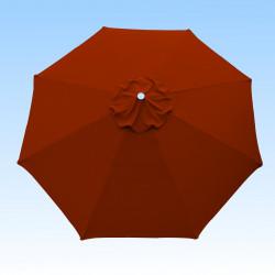 Toile de remplacement pour parasol 300 cm Rouge Terracotta