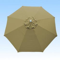 Toile de remplacement pour parasol 300 cm Sable Greige