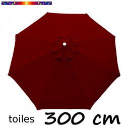 Toile de remplacement pour parasol 300 cm Rouge Bordeaux vue de dessus