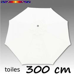 Toile de remplacement pour parasol 300 cm Blanc Jasmin sur fond gris dégradé