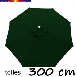 Toile de remplacement pour parasol 300 cm Vert Pinède vue de dessus