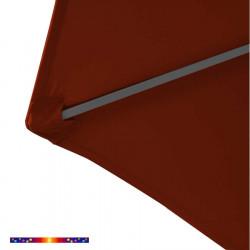 Toile de remplacement pour parasol HEXAGONAL 300 cm couleur Terracotta : détail du pochon d'accrochage de la baleine
