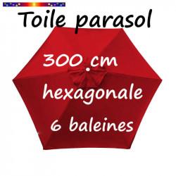 Toile de remplacement pour parasol HEXAGONAL 300 cm couleur Rouge