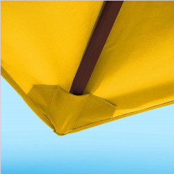 Toile de remplacement 350 cm Jaune d'Or : détail du fourreau de fixation en bout de baleine