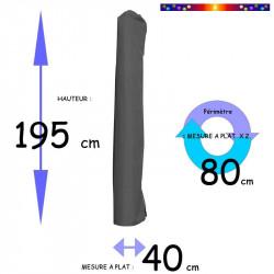 Housse de protection pour parasol Hauteur 195 cm x Largeur 40 cm : dimensions