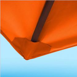 Toile de remplacement 350 cm Orange Capucine : détail du fourreau de fixation en bout de baleine