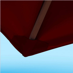 Toile de remplacement 350 cm Rouge Bordeaux : détail du fourreau de fixation en bout de baleine