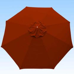 Toile de remplacement 350 cm Rouge Terracotta : toile vue de dessus