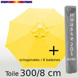 Pack : Toile 300/8 Jaune Bouton d'Or + Housse 201x40/80