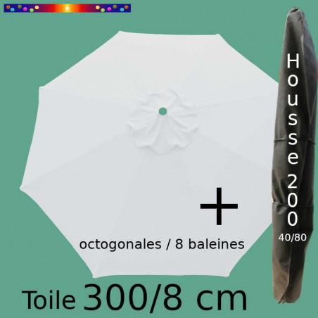 Pack : Toile 300/8 Blanc Jamin + Housse 200x40/80