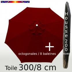 Pack : Toile 300/8 Bordeaux + Housse 200x40/80