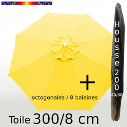 Pack : Toile 300/8 Jaune Bouton d'Or + Housse 200x40/80
