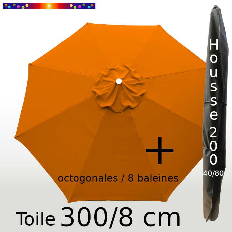 Pack : Toile 300/8 Orange + Housse 200x40/80