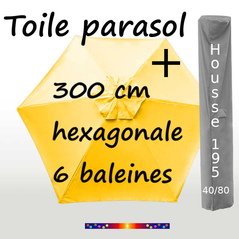 Pack : Toiles 300/6 Jaune d'Or + Housse 195/40x80