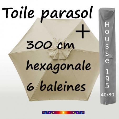 Pack : Toiles 300/6 Soie Grège + Housse 195/40x80