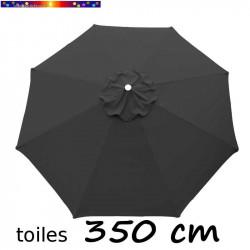Toile de remplacement pour parasol 350 cm Gris Souris vue de dessus