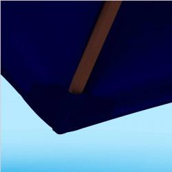 Toile de remplacement 350 cm Bleu Marine : détail du fourreau de fixation en bout de baleine