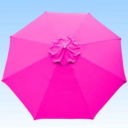 Toile de remplacement 350 cm Rose Fushia : toile vue de dessus