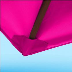 Toile de remplacement 350 cm Rose Fushia : détail du fourreau de fixation en bout de baleine