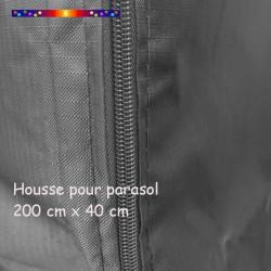 Housse pour parasol 201 cm x Largeur 40 cm : zip