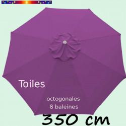 Toile de remplacement pour parasol 350 cm Violette : vue de dessus