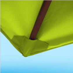 Toile de remplacement 350 cm Vert Lime : détail du fourreau de fixation en bout de baleine
