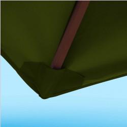 Toile de remplacement 350 cm Vert Pinède : détail du fourreau de fixation en bout de baleine