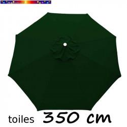 Toile de remplacement pour parasol 350 cm Vert Pinède vue de dessus