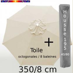Pack : Toile 350/8 Soie Grège + Housse 195x40/80