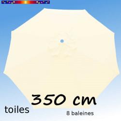 Toile de remplacement pour parasol 350 cm Blanc Ecru Crème