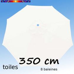 Toile de remplacement pour parasol 350 cm Blanc Jasmin : vu de dessus