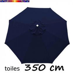 Toile de remplacement pour parasol 350 cm Bleu Marine vue de dessus