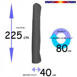 Housse de protection pour parasol Hauteur 225 cm x Largeur 40 cm : dimensions