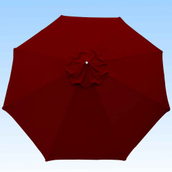 Toile de remplacement 350 cm Rouge Bordeaux : toile vue de dessus