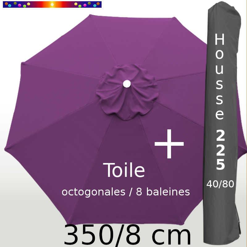 Pack : Toile 350/8 Violette + Housse 225x40/80