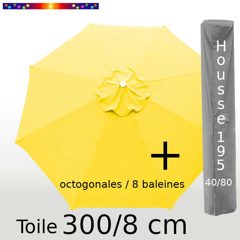 Pack : Toile 300/8 Jaune d'Or + Housse 195x40/80