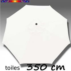 Toile de remplacement pour parasol 350 cm Blanc Jasmin