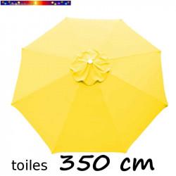 Toile de remplacement pour parasol 350 cm Jaune d'Or vue de dessus